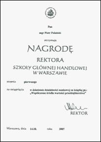 Nagroda rektora Szkoły Głównej Handlowej